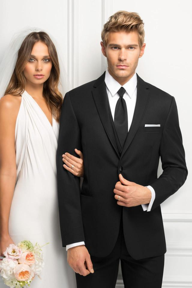 wedding suit black michael kors sterling 471 1
